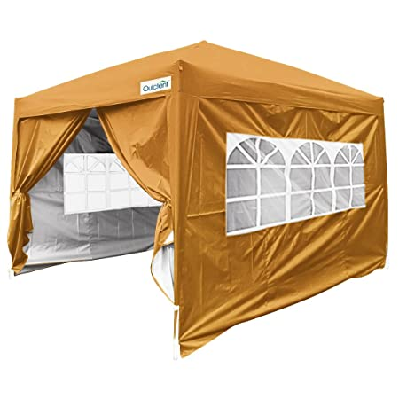 Quictent Silvox 8×8 EZ Pop Up Canopy Tent Instant Canopy with Carry Bag 100 Waterproof-7 Colors Brown