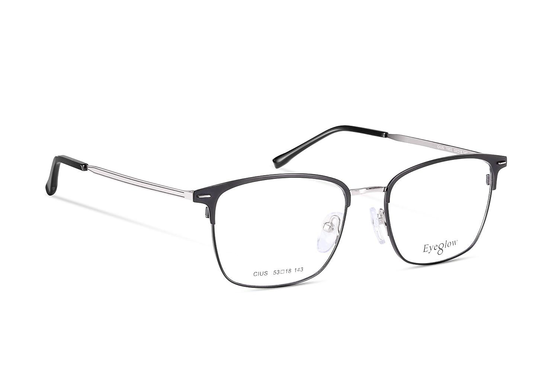 af9b878d99997 Amazon.com  EyeGlow Rectangular Eyeglasses Frame Prescription Glasses Frame  Double Color Plating 7501 Ultra Lightweight 17.6g (Golden