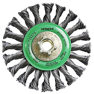 Hitachi 729270 4-Inch Twist Knot Carbon Steel Wire Wheel Brush (Discontinued by Manufacturer)