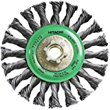 Hitachi 729270 4-Inch Twist Knot Carbon Steel Wire Wheel Brush