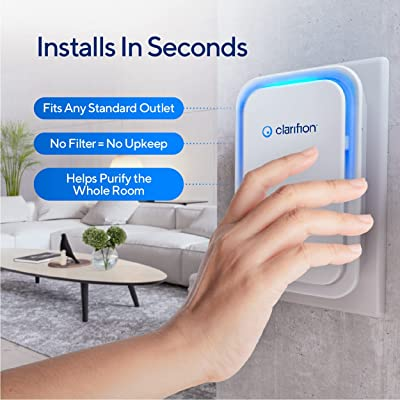 ONE Clarifion Filterless Mobile Ionizer /& Ionic Air Purifier Plug In