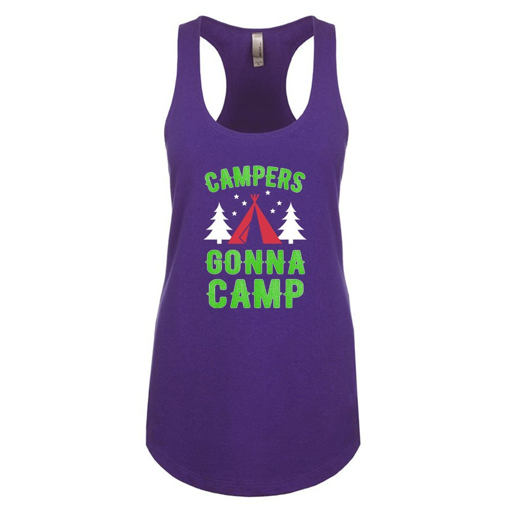 Mad Over Shirts Campers Gonna Camp Unisex Premium Racerback Tank top