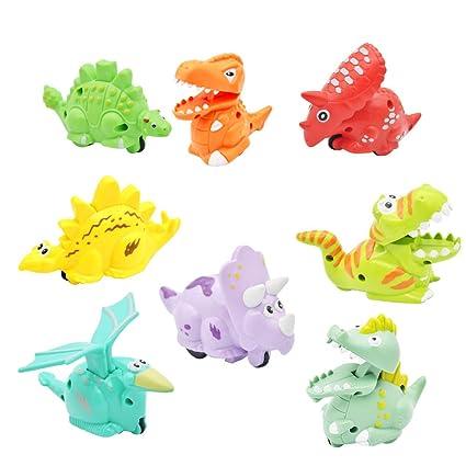 Amazon.com: DIDUBUY - Paquete de 8 juguetes de dinosaurio ...