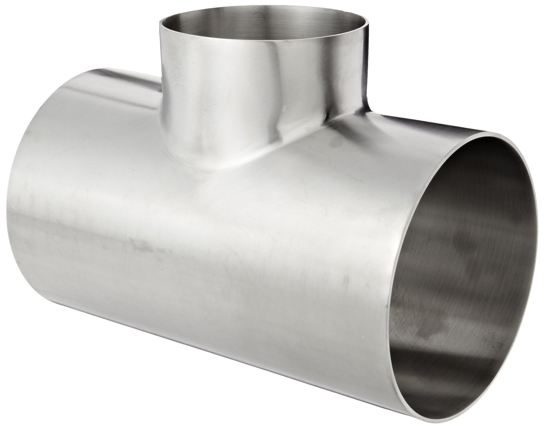 Dixon B7RWWW-G400300P Stainless Steel 304 Polished Fitting, Weld Reducing Tee, 4'' Tube OD x 3'' Tube OD x 4'' Tube OD