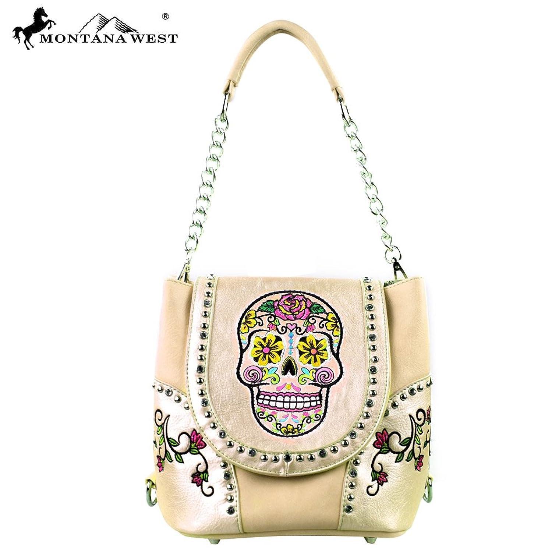 MW255-8105 Montana West Sugar Skull Collection Handbag