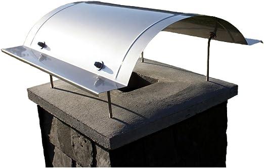 Chimenea, Cubierta para chimenea, campana extractora de acero inoxidable tipo Kampen, hecha a mano en cualquier tamaño, aquí para cuadrado Chimenea cabezales 50 – 55 cm: Amazon.es: Jardín