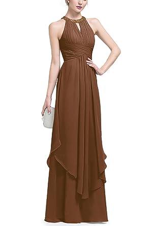 Brown Girl Chiffon Pleated Dress