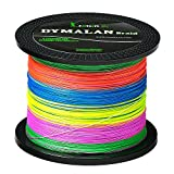 JIMEI Braid Fishing line 4 Strands 50LB 100M/109YDS Diameter 0.40mm Multicolor PE Braided line Super Strong and Thin for River&sea&ice&Fly Fish with Saltwater or Freshwater by Dymalan