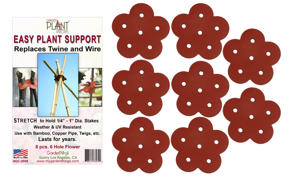 Easy Plant Support Stretch 6-HoleConncters, 8-Pack by Garden Things (Image #1)