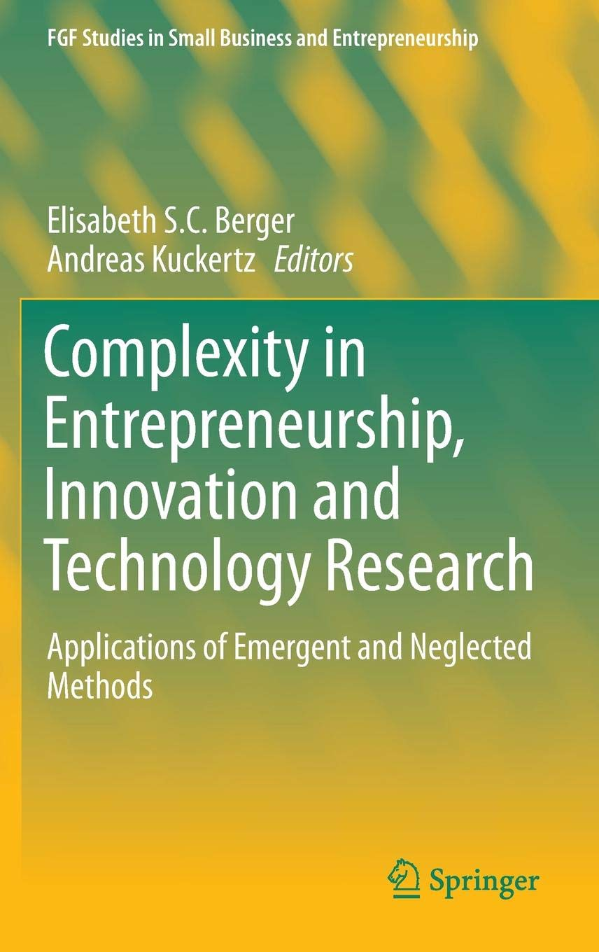 Complexity in Entrepreneurship, Innovation and
