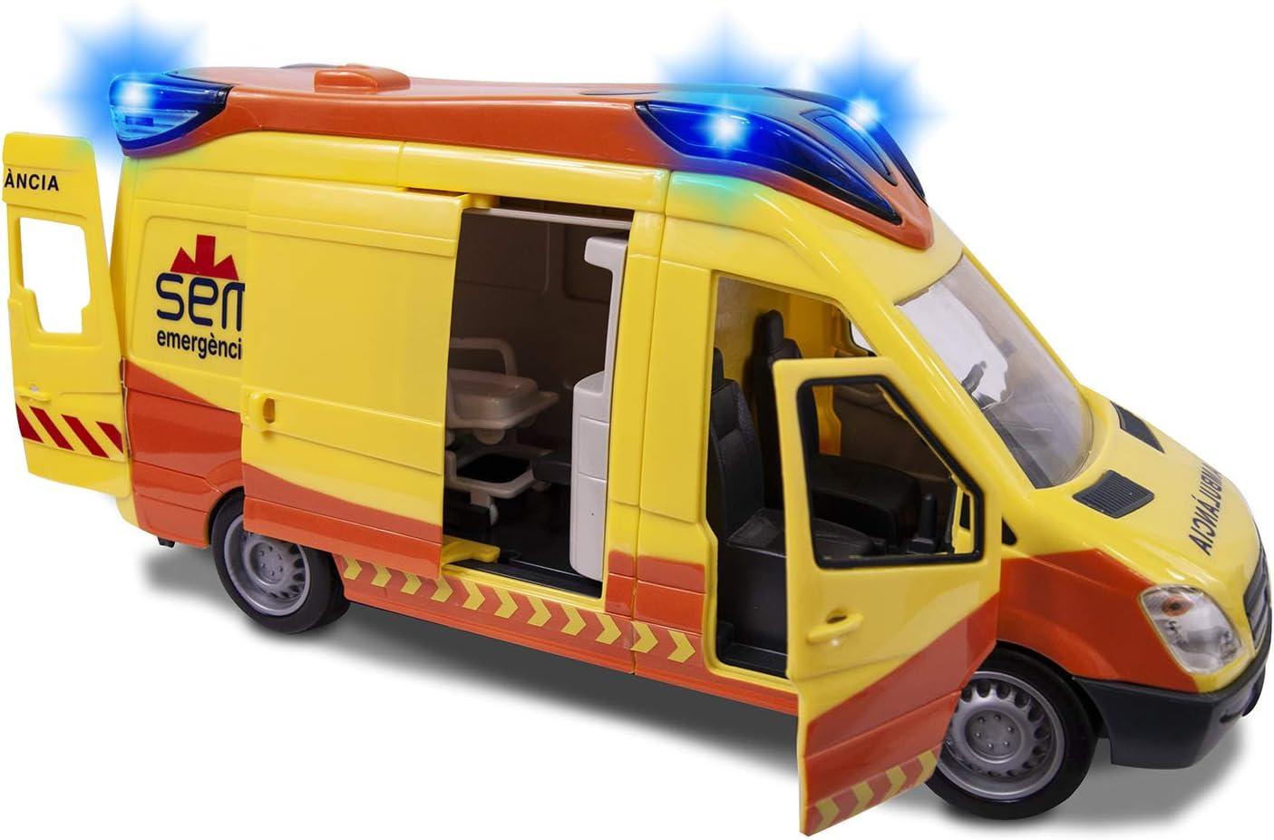 Ambulancia SEM de 34cm con luz y sonido (Dickie 1166002)