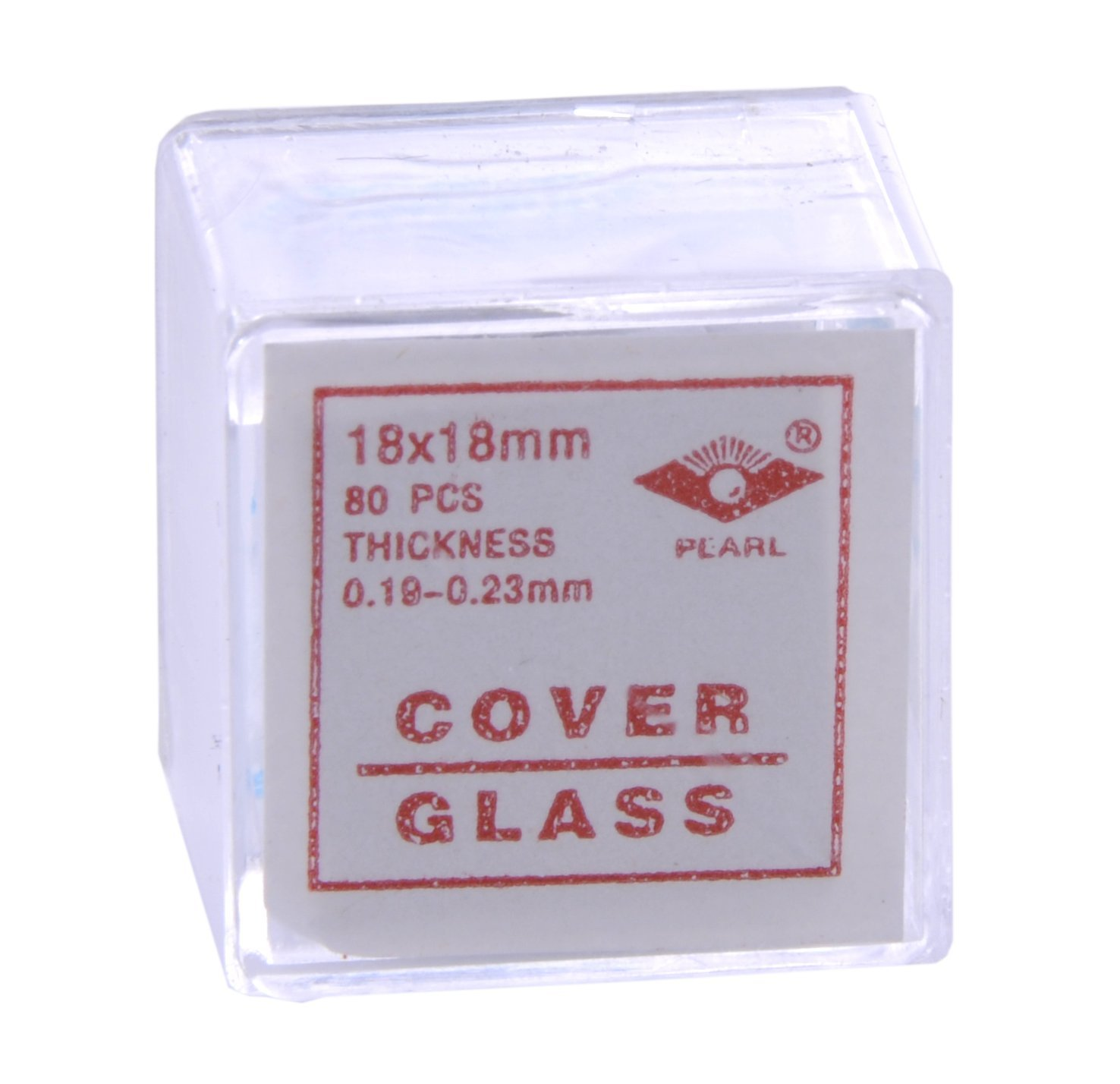American Educational Glass Microscope Cover Slip, 18mm Length, 18mm Width, 2 Thickness (Bundle of 800) 7-1305-22-A