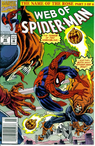 Web of Spider-Man #86 : The Dark Within (The Name of the Rose - Marvel Comics) -