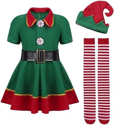 JEELINBORE Disfraz de Elfo, Unisexo Adultos Niños Disfraz de ...