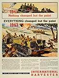 1944 Ad International Harvester CO Chicago Army Soldiers Diesel Crawlers Trucks - Original Print Ad