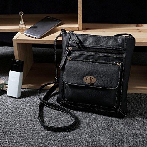 Purses For Women, Womens Leather Satchel Cross Body Shoulder Messenger Bag Travel Shoulder Bags Duseedik Clearance!! (Black) by Duseedik-bags (Image #1)