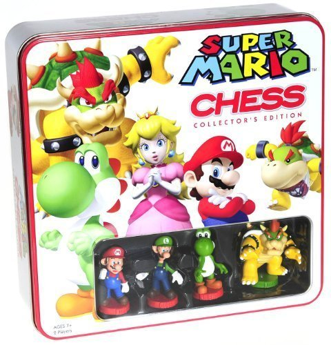 Super Mario Themed Chess Set _ Collector's Edition in Colorful Tin -