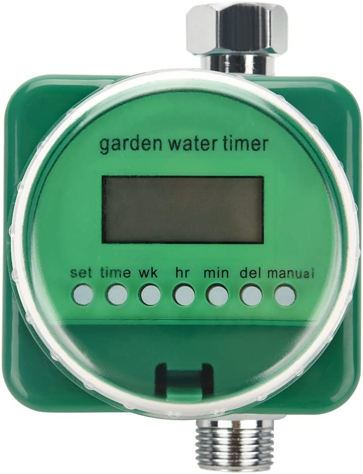 Sistema de temporizador de manguera de agua digital mec/ánico autom/ático Temporizador de riego electr/ónico programable de 1 salida Controlador de riego de jard/ín a prueba de agua con pantalla LCD
