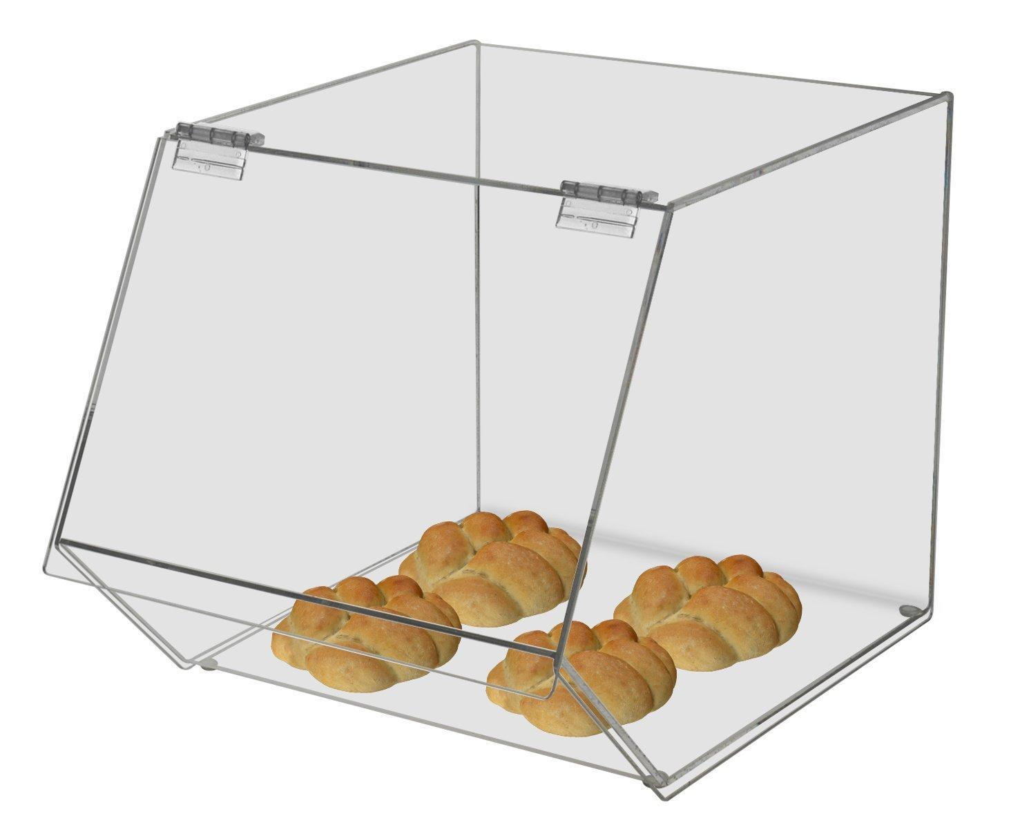 Acrylic 12''w Bulk Bread Storage Display Case Bakery Pastry Cookies Bagel Cupcake (2, 12'' Wide)