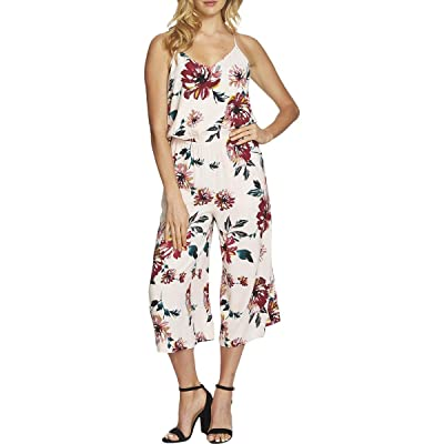 1.State Womens Floral Print V-Neck Jumpsuit Pink XS: Clothing