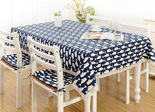 JuAnQ La ropa de algodón fresca pequeña puntilla rectangulares mesas redondas manteles de tela Manteles de mesa cubierta , ,90*90cm rectangular: Amazon.es: Hogar
