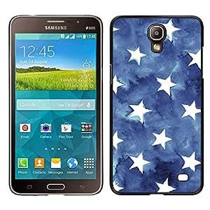 Stuss Case / Funda Carcasa protectora - Stripes USA azul de la bandera americana; - Samsung Galaxy Mega 2