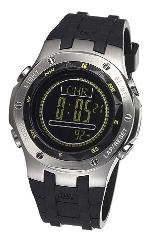 Caterpillar Navigo CA1614 - Reloj de caballero de cuarzo, correa de goma color negro (