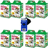 Fujifilm Instax Mini Twin Pack Instant Film -8 pack (160 sheets) for Fujifilm Instax Mini 7s, Mini 8, Mini 9, Mini 25, Mini 50S, Mini 90, SP-1 & SP-2 Smartphone Printers + HeroFiber Cleaning Cloth