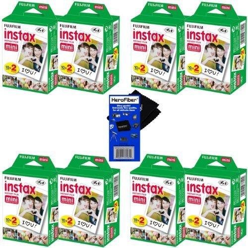 HeroFiber Fujifilm Instax Mini Twin Pack Instant Film -8 pac