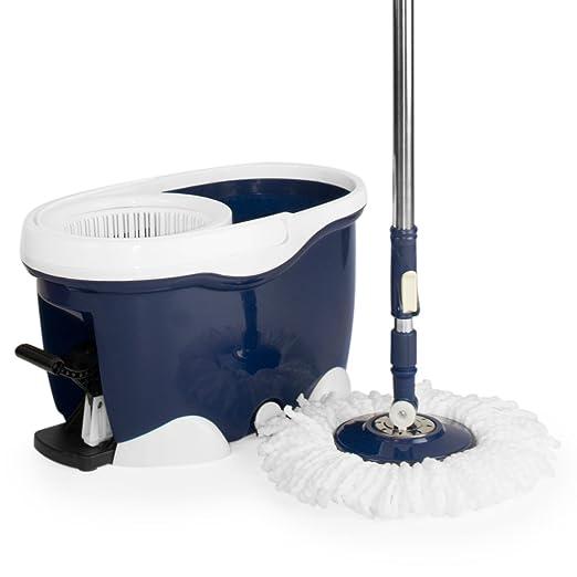 5 opinioni per CleanAid BigFoot Mop: Set Spazzolone lavapavimenti con seccia e pedale,