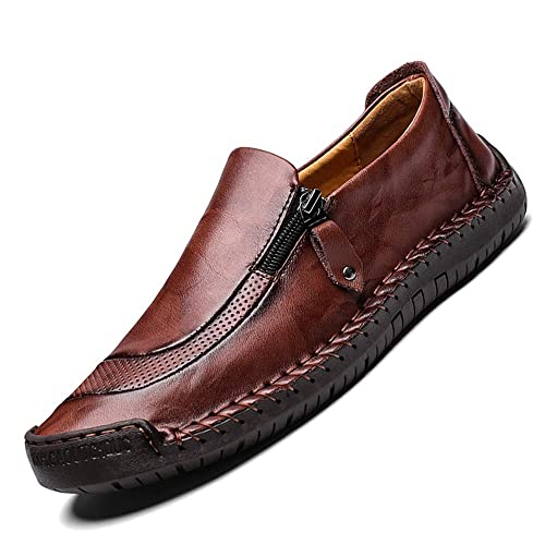 75306f3e2 ENLEN BENNA Men Casual Leather Shoes Dress Loafer Breathable Lightweight Driving  Shoes Summer Slip On Moccasins Outdoor