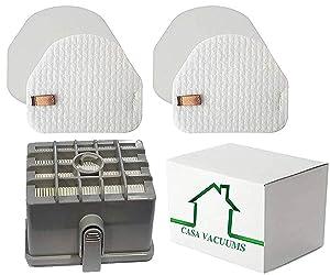 Casa Vacuums Replacement 2 + 1 Filter Kit for Shark DuoClean Slim Upright Vacuum Filter Kit; Hepa, 2 Foam + 2 Felt Filters; fits NV200, NV200C, NV200Q, NV201, NV202, NV202C; XFF450 & XHF450