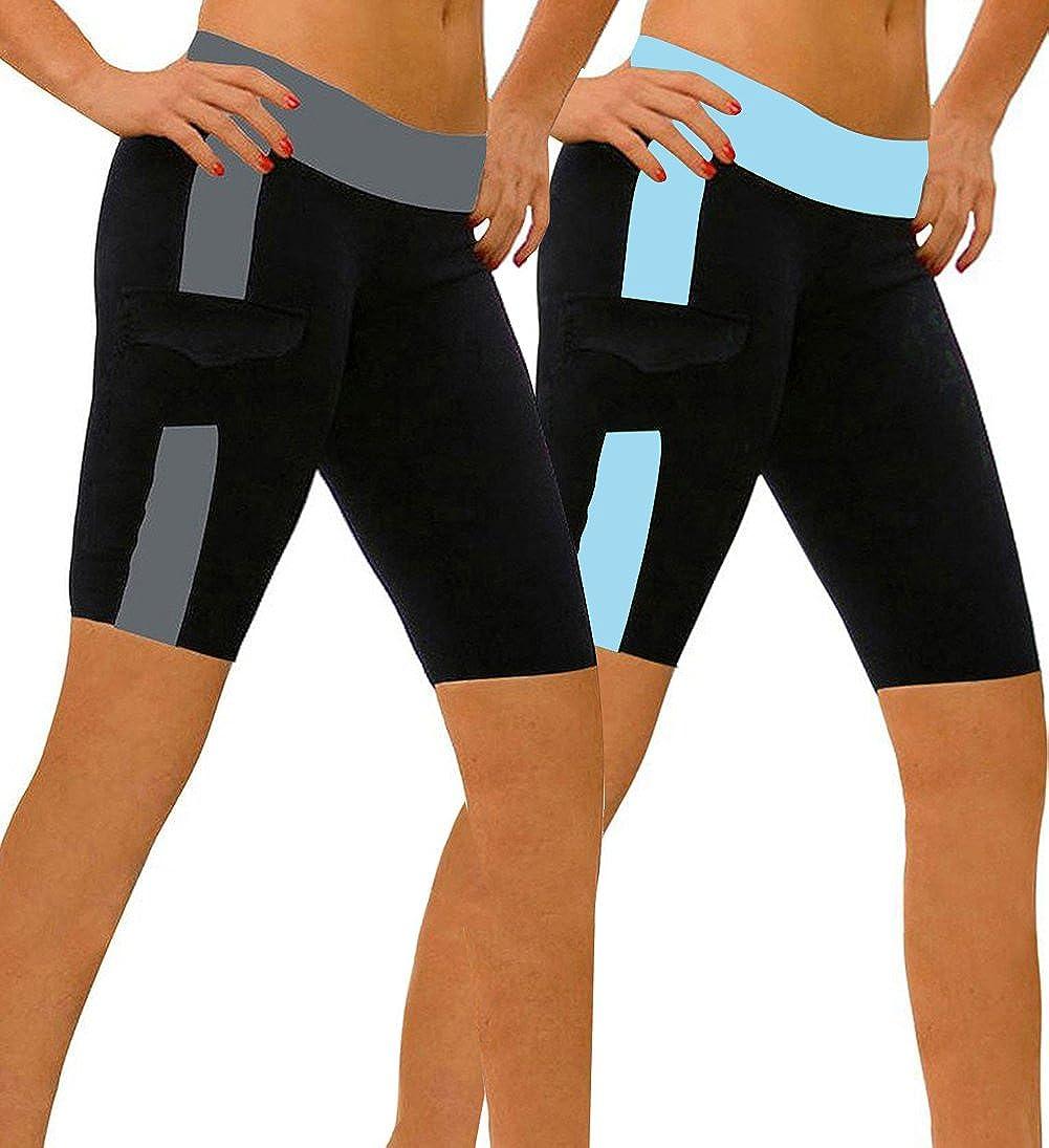 ABUSA Women's YOGA Leggings Exercise Workout Shorts A00158