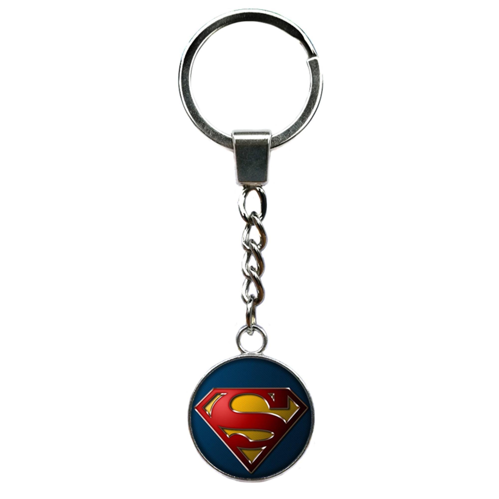 Outlander Brand Superman Premium Quality Silvertone Keychain Key Ring w/Gift Box