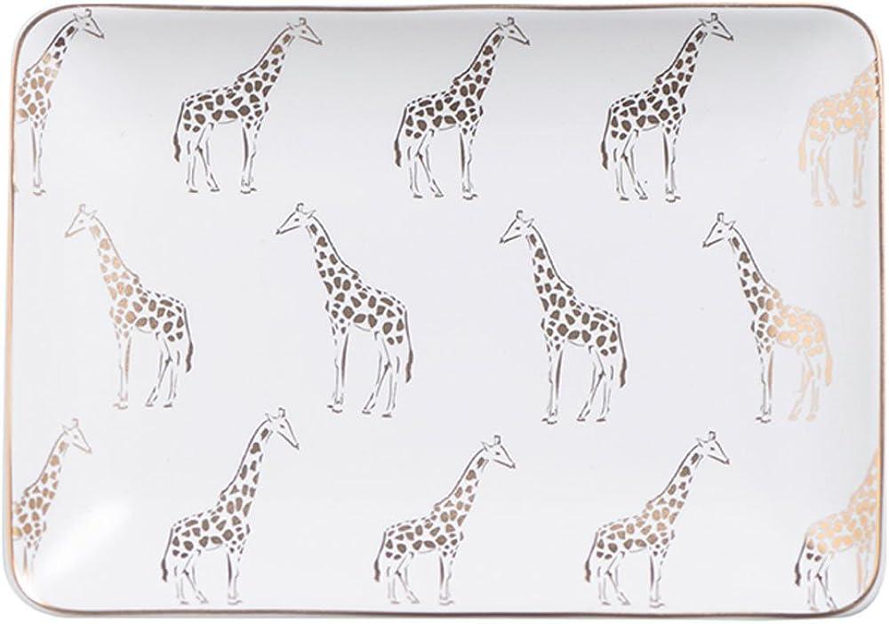 Giraffe Zebra Ceramic Ring Dish Holder Jewelry Holder Trinket Dish, Dessert Plate, Home Decor, Valentines Gift