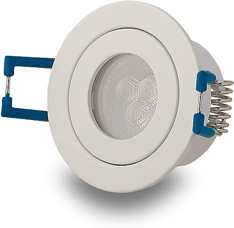 Focos empotrables LED Blanco - redondos 3W blanco neutral planos y ...