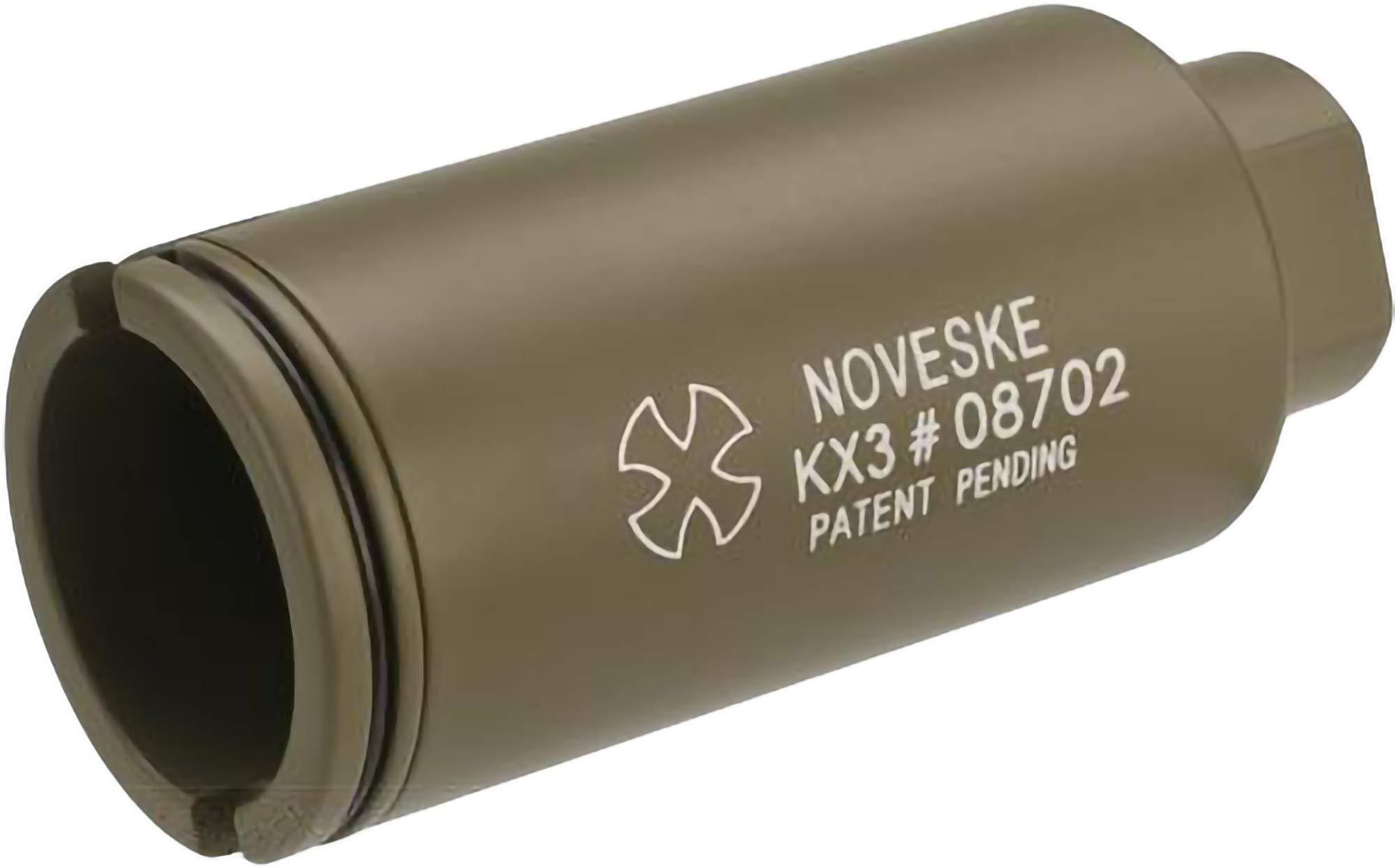 Evike Madbull Noveske KX3 Airsoft Sound Amplifier System (Color: Tan / 14mm Negative) by Evike