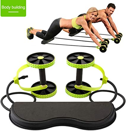 Abdominal Waist Gym Fitness Roller Wheel Workout Training Fitness Exercise US