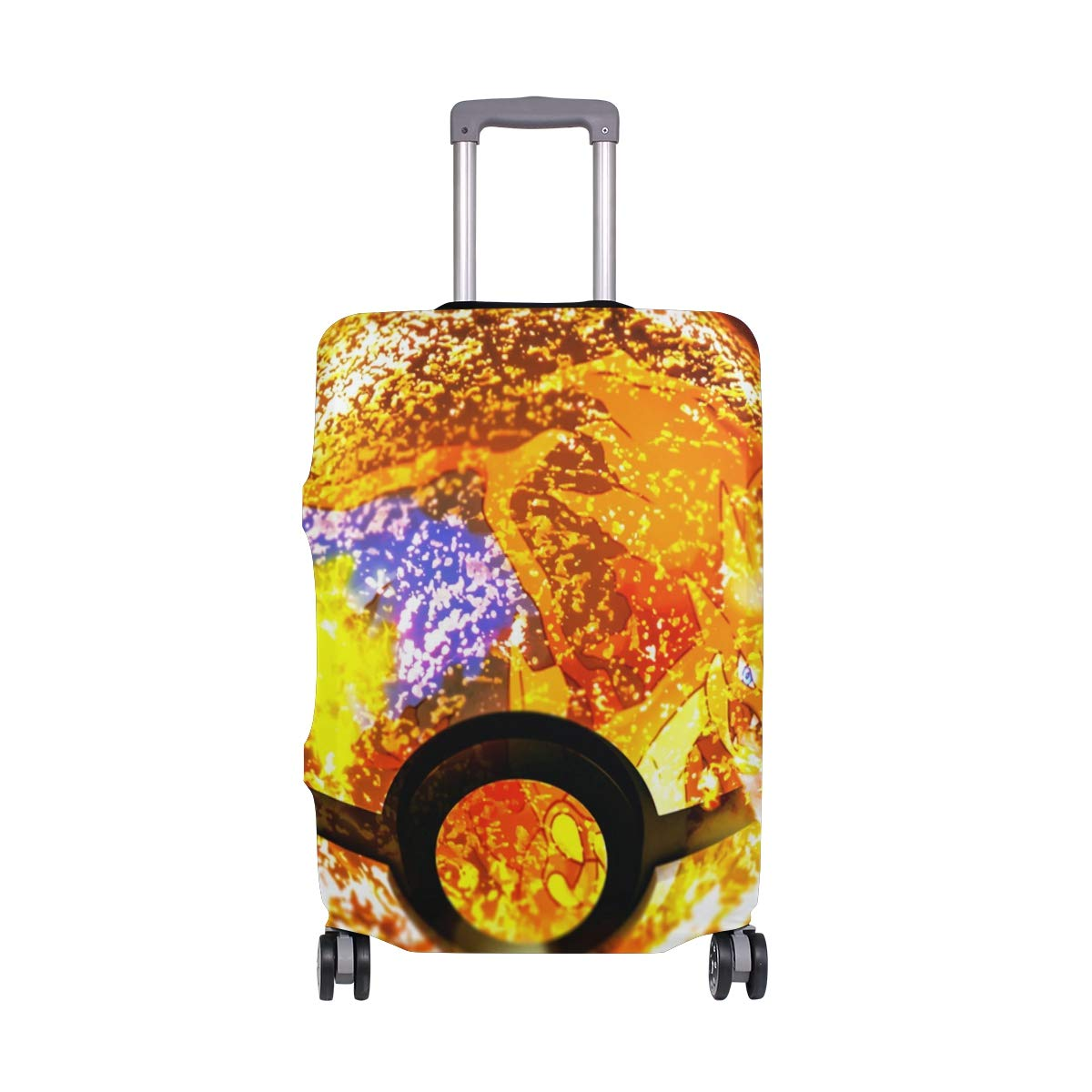 Super Smash Bros Pokeball Of Mega Charizard Travel Luggage Cover Suitcase Protector Fits 26-28 Inch Washable Baggage Covers