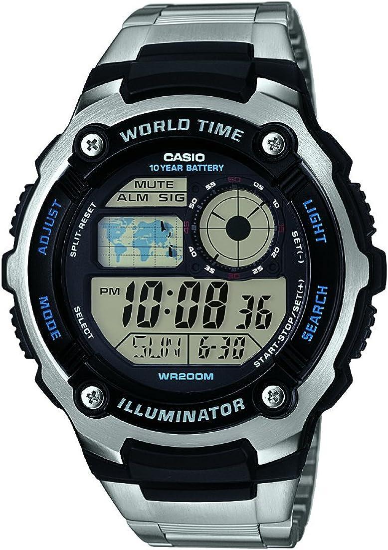 Casio Reloj analogico para Hombre de Cuarzo con Correa en Acero Inoxidable AE-2100WD-1AVEF