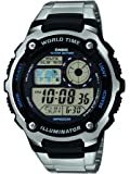 Casio Men's Digital Watch with Stainless Steel Bracelet AE-2100WD-1AVEF