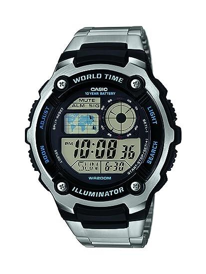 Casio Reloj analogico para Hombre de Cuarzo con Correa en Acero Inoxidable AE-2100WD-1AVEF: Amazon.es: Relojes