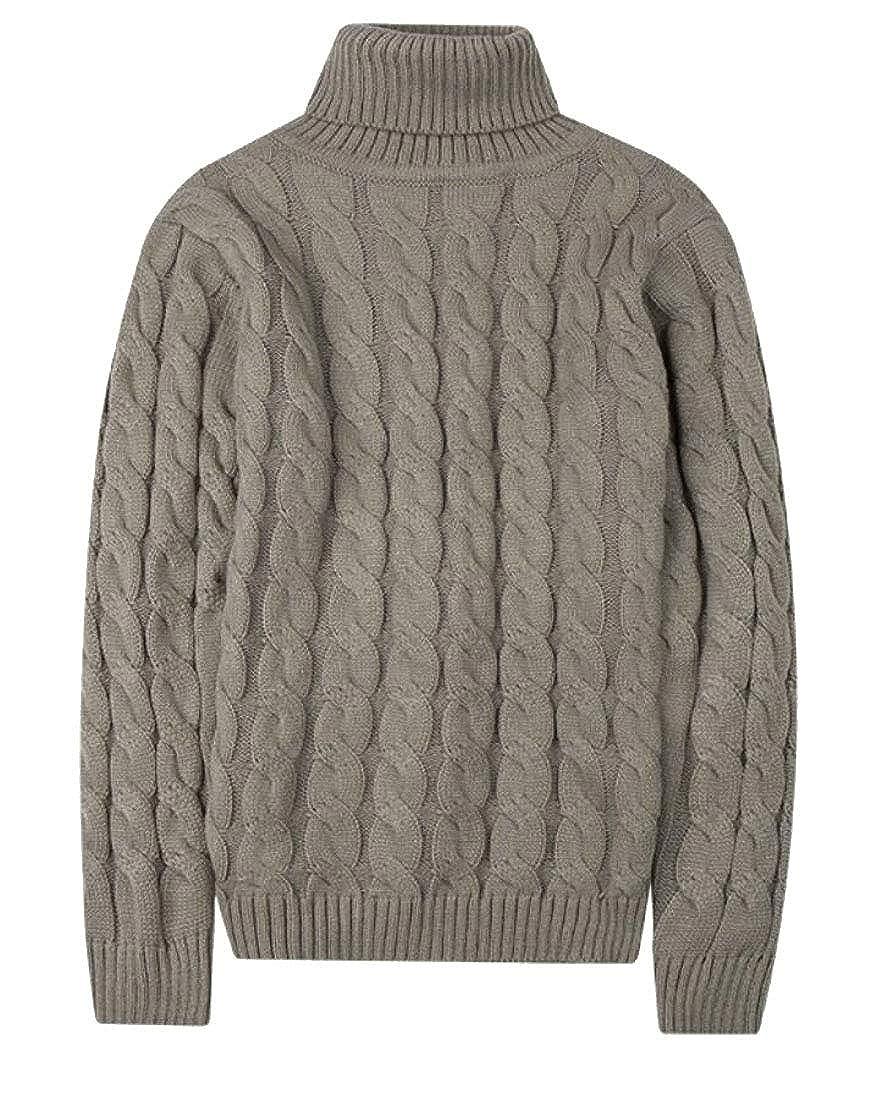 omniscient Men Turtleneck Long Sleeves Knitted Sweater Top