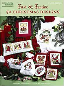 Quick Stitch Country Christmas Snowman Xmas Tree Counted Cross Stitch Pattern