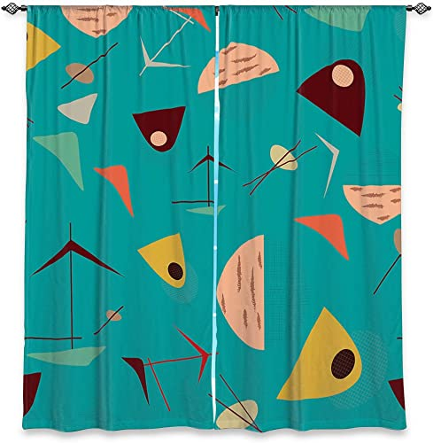 Dia Noche WCL-NikaMartinezMidCentHeroBlue6 Lined Window Curtains, 80W x 82H in