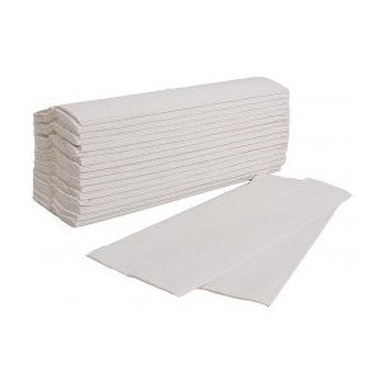 Lot de 3750 essuie-mains en papier 2 plis Blanc -pliage Z - Ecolabel Ouatinelle