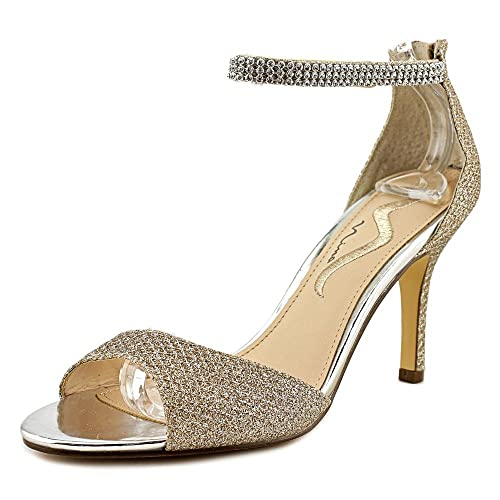 Nina Womens varetta gm Open Toe Ankle Strap Classic Pumps Gold Size 6.5 -  spain-real-estate.org 0c43d855682