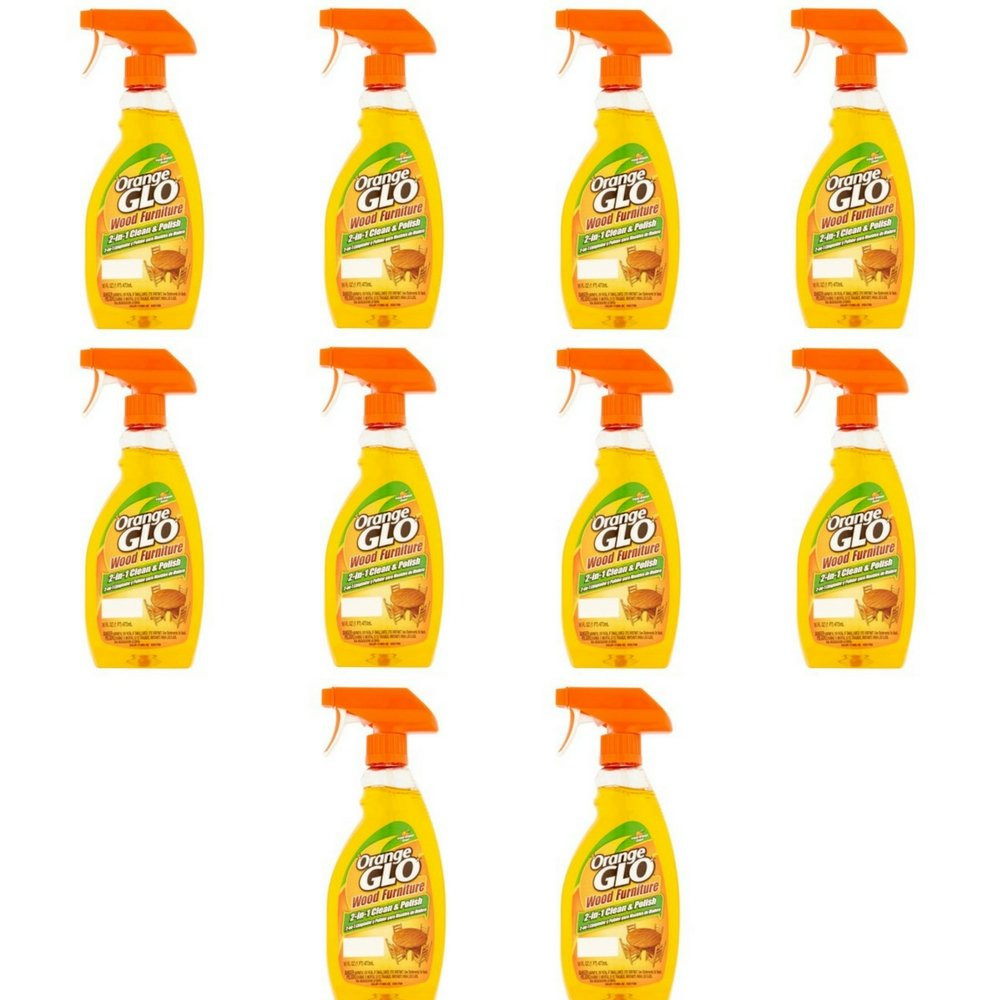 Orange Glo 2-in-1 Clean & Polish Wood Furniture Spray - 16 oz - 10 pk