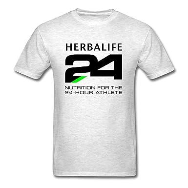 7f27b28f4d3 CRISTELLE JOLY Gorgeous Light oxford Herbalife 24 Black T-shirt For Men  Small