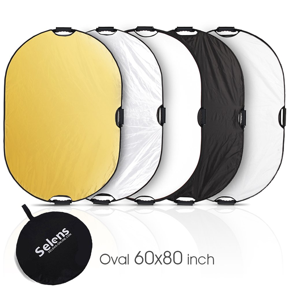 Selens 5-in-1 60x80 Inch Oval Reflector with Handle for Photography Photo Studio Lighting & Outdoor Lighting